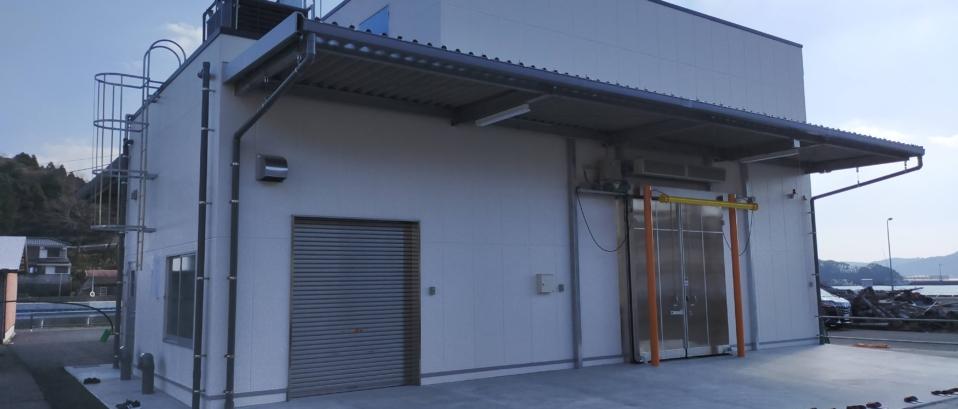 水産用冷凍庫完成見学会